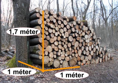 Erdei köbméter fa